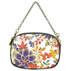 Autumn Flowers Pattern 5 Chain Purses (one Side)  by tarastyle