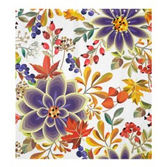 Autumn Flowers Pattern 5 Shower Curtain 66  X 72  (large)  by tarastyle