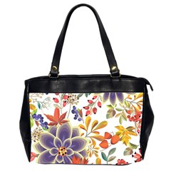 Autumn Flowers Pattern 5 Office Handbags (2 Sides)  by tarastyle