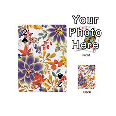 Autumn Flowers Pattern 5 Playing Cards 54 (mini)  by tarastyle