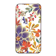 Autumn Flowers Pattern 5 Apple Iphone 4/4s Seamless Case (black) by tarastyle