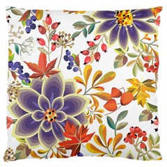 Autumn Flowers Pattern 5 Large Cushion Case (one Side) by tarastyle
