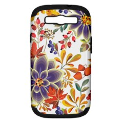 Autumn Flowers Pattern 5 Samsung Galaxy S Iii Hardshell Case (pc+silicone) by tarastyle