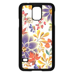 Autumn Flowers Pattern 5 Samsung Galaxy S5 Case (black) by tarastyle