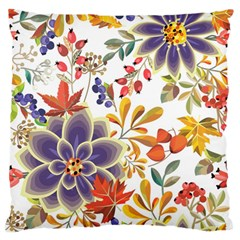 Autumn Flowers Pattern 5 Standard Flano Cushion Case (one Side) by tarastyle