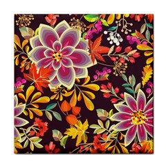 Autumn Flowers Pattern 6 Tile Coasters by tarastyle