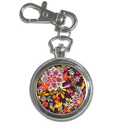 Autumn Flowers Pattern 6 Key Chain Watches by tarastyle