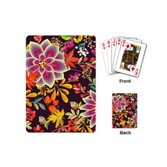 Autumn Flowers Pattern 6 Playing Cards (mini)  by tarastyle