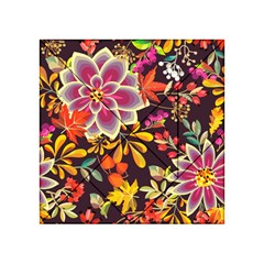 Autumn Flowers Pattern 6 Acrylic Tangram Puzzle (4  X 4 ) by tarastyle
