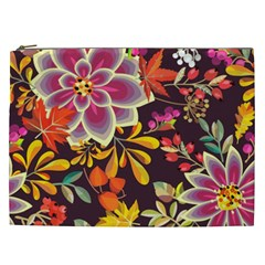 Autumn Flowers Pattern 6 Cosmetic Bag (xxl)  by tarastyle