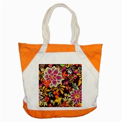 Autumn Flowers Pattern 6 Accent Tote Bag by tarastyle