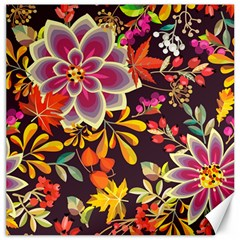 Autumn Flowers Pattern 6 Canvas 16  X 16   by tarastyle