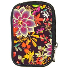 Autumn Flowers Pattern 6 Compact Camera Cases by tarastyle
