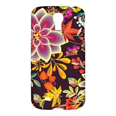 Autumn Flowers Pattern 6 Samsung Galaxy S4 I9500/i9505 Hardshell Case by tarastyle