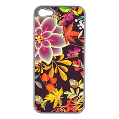 Autumn Flowers Pattern 6 Apple Iphone 5 Case (silver) by tarastyle