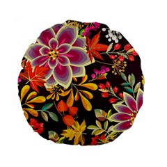Autumn Flowers Pattern 6 Standard 15  Premium Round Cushions by tarastyle