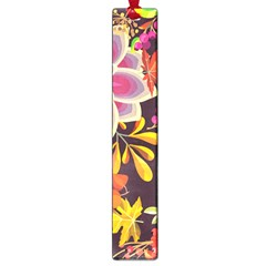 Autumn Flowers Pattern 6 Large Book Marks by tarastyle