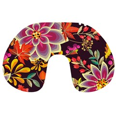 Autumn Flowers Pattern 6 Travel Neck Pillows by tarastyle