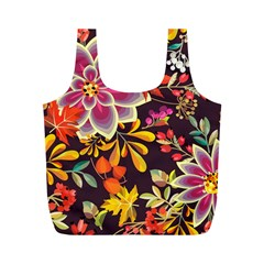 Autumn Flowers Pattern 6 Full Print Recycle Bags (m)  by tarastyle