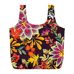 Autumn Flowers Pattern 6 Full Print Recycle Bags (l)  by tarastyle