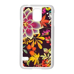 Autumn Flowers Pattern 6 Samsung Galaxy S5 Case (white) by tarastyle