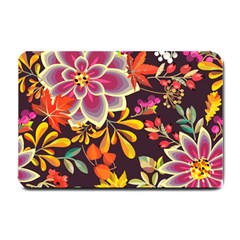 Autumn Flowers Pattern 6 Small Doormat  by tarastyle