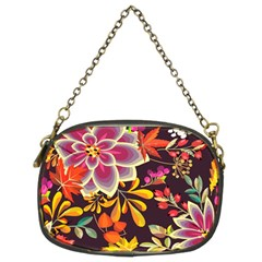 Autumn Flowers Pattern 6 Chain Purses (two Sides)  by tarastyle
