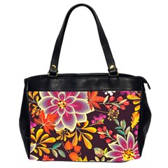Autumn Flowers Pattern 6 Office Handbags (2 Sides)  by tarastyle