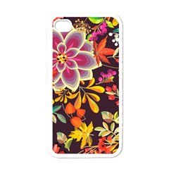 Autumn Flowers Pattern 6 Apple Iphone 4 Case (white) by tarastyle