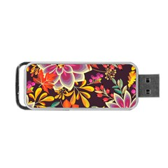 Autumn Flowers Pattern 6 Portable Usb Flash (two Sides) by tarastyle