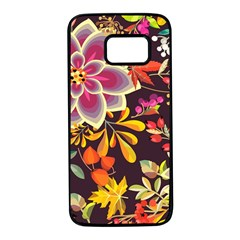 Autumn Flowers Pattern 6 Samsung Galaxy S7 Black Seamless Case by tarastyle