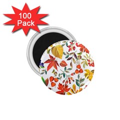 Autumn Flowers Pattern 7 1 75  Magnets (100 Pack)  by tarastyle
