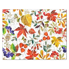 Autumn Flowers Pattern 7 Rectangular Jigsaw Puzzl by tarastyle