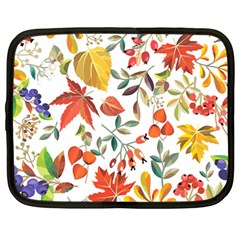 Autumn Flowers Pattern 7 Netbook Case (large) by tarastyle