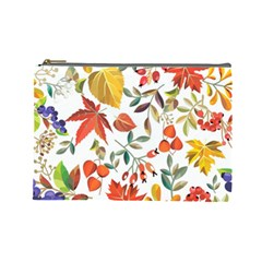 Autumn Flowers Pattern 7 Cosmetic Bag (large)  by tarastyle
