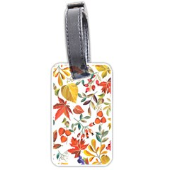Autumn Flowers Pattern 7 Luggage Tags (one Side)  by tarastyle