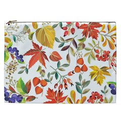 Autumn Flowers Pattern 7 Cosmetic Bag (xxl)  by tarastyle