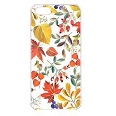 Autumn Flowers Pattern 7 Apple Iphone 5 Seamless Case (white) by tarastyle