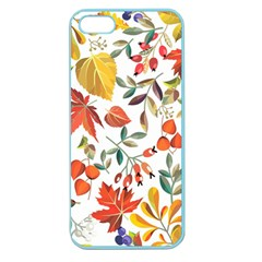 Autumn Flowers Pattern 7 Apple Seamless Iphone 5 Case (color) by tarastyle