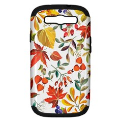 Autumn Flowers Pattern 7 Samsung Galaxy S Iii Hardshell Case (pc+silicone) by tarastyle