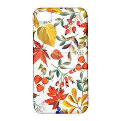 Autumn Flowers Pattern 7 Apple Iphone 4/4s Hardshell Case With Stand by tarastyle