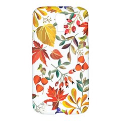 Autumn Flowers Pattern 7 Samsung Galaxy S4 I9500/i9505 Hardshell Case by tarastyle