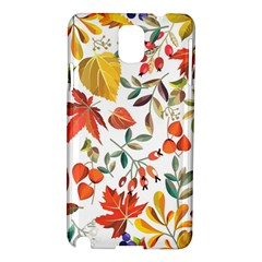 Autumn Flowers Pattern 7 Samsung Galaxy Note 3 N9005 Hardshell Case by tarastyle