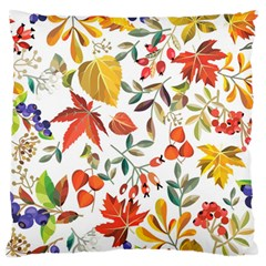 Autumn Flowers Pattern 7 Large Flano Cushion Case (one Side) by tarastyle