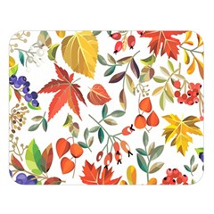 Autumn Flowers Pattern 7 Double Sided Flano Blanket (large)  by tarastyle