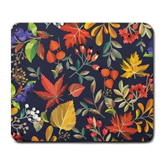 Autumn Flowers Pattern 8 Large Mousepads by tarastyle