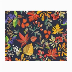 Autumn Flowers Pattern 8 Small Glasses Cloth by tarastyle
