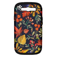 Autumn Flowers Pattern 8 Samsung Galaxy S Iii Hardshell Case (pc+silicone) by tarastyle