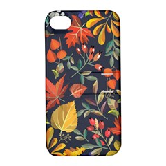 Autumn Flowers Pattern 8 Apple Iphone 4/4s Hardshell Case With Stand by tarastyle