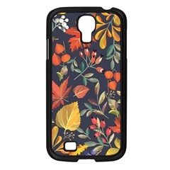 Autumn Flowers Pattern 8 Samsung Galaxy S4 I9500/ I9505 Case (black)